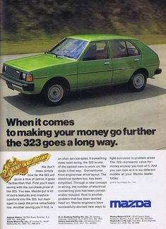 Mazda Cars, Car Advertising, The Old Days, Japanese Cars, My Childhood Memories, Old Cars, Cars And Motorcycles, Vintage Cars, Classic Cars