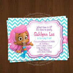 Bubble Guppies Invitation, Bubble Guppies Birthday Invitations, Photo Bubble Guppies Party Printables - Style 21-YOU PRINT by lovebuggydesigns on Etsy https://www.etsy.com/listing/172030571/bubble-guppies-invitation-bubble-guppies
