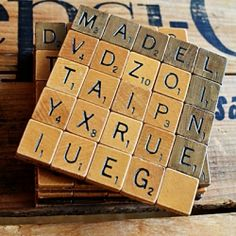 Scrabble coasters tutorial.