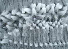 Architectural Textiles Design - delicate knitted fabric with three-dimensional textures; fabric manipulation // CITA