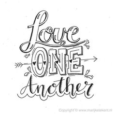 Love ons anather handlettering