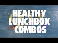 (13) Healthy lunchbox combos - YouTube