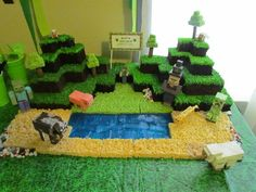 Amazing cake at a Minecraft girl birthday party! See more party ideas at CatchMyParty.com