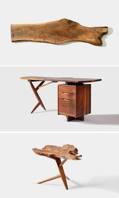 George Nakashima Furniture design with emphasis on natural looks & incorporating environment House Furniture Design, Live Edge Furniture, Home Decor Furniture, Furniture Projects, Chair Design, Furniture Decor, Wood Projects, Japanese Interior, Mid Century Modern Furniture