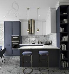 Kitchen Room Design, Luxury Kitchen Design, Kitchen Cabinet Colors, Bathroom Interior Design, Kitchen Layout, Home Decor Kitchen, Kitchen Interior, New Kitchen Cabinets, Home Kitchens