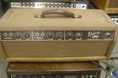 1961 Fender Deluxe Amp guitar amplifier vintage pre cbs fender electric brown