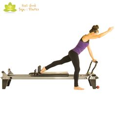 scooter pilates reformer exercise variation 2 - could do it like a bird dog variation