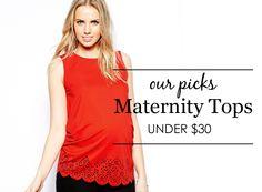 {Project Nursery Picks: Maternity Tops Under $30} #maternity #style