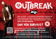 Looking for some spine-chilling fun? Visit M&Ds Scotlands Theme Park this October and see if you can survive the Outbreak... If you get out in one piece, treat yourself to a Starslush to settle your nerves!