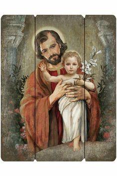 Catholic Art, Catholic Saints, Patron Saints, Religious Art, Religious Gifts, Joseph Jesus Father, Jesus Mary And Joseph, Saint Joseph, Christian Artwork