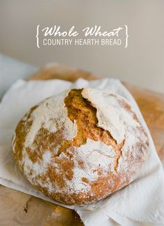 Whole Wheat Coun­try Hearth Bread