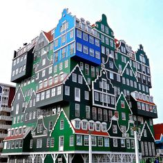 Inntel Hotels Amsterdam Zaandam, North Holland, The Netherlands Places Around The World, The Places Youll Go, Places To See, Around The Worlds, Unusual Buildings, Amazing Buildings, Best Hotel Deals, Best Hotels, Roadtrip