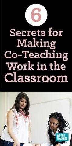 6 Secrets for Making Co-Teaching Work in the Classroom - WeAreTeachers
