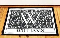 Initial Doormat from Identity Direct, personalised just for you. Choose Identity Direct for all your personalised gift needs. Personalized Door Mats, House Warming, Initials, Burgundy, New Homes, At Least, Wraps, Just For You, Gift Wrapping