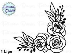 Flower Outline, Flower Svg, Flower Template, Embroidery Alphabet, Hand Embroidery Patterns, Printable Flower Coloring Pages, Flower Drawing Tutorials, Graphic Design Programs, Paper Flowers Craft