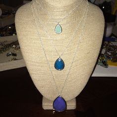 """Minaret Three row convertible necklace Can be worn as 1,2 or 3 pendants -6"""" 20"""" or 26"""" approx length options lobster clasp Jewelry Necklaces"""