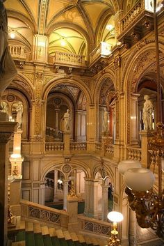 The State Opera House, Vienna, Austria  Sigh.... This must be TRULY BREATHTAKING in person!