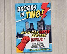 Superhero Birthday Invitation Printable by by vintagesweetdesign, $12.00