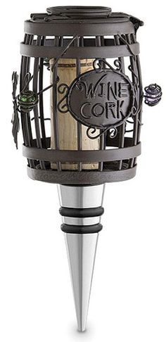 Cork cage wine bottle stopper