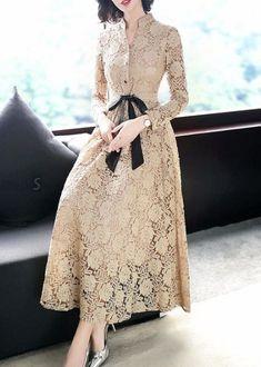 trendy ideas for dress brokat lace fashion Best Prom Dresses, Trendy Dresses, Simple Dresses, Women's Fashion Dresses, Beautiful Dresses, Nice Dresses, Dress Outfits, Casual Dresses, Formal Dresses