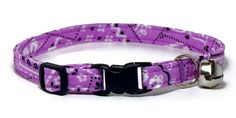 Cat Collar - Soft Purple Bandana - Breakaway Safety Cute Fancy Cat Kitten Collar