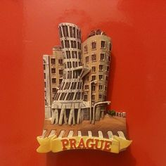 Magnet Dancing House (Fred and Ginger) by Vlado Milunic & in Brought back for me by one of the