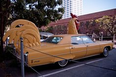 rooster art car