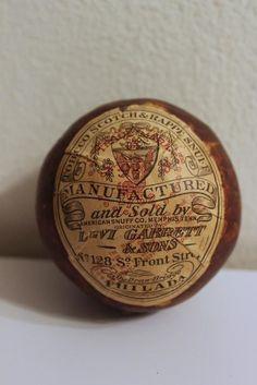 antique LEVI GARRETT & SONS sealed Tobacco SNUFF BALL very rare!
