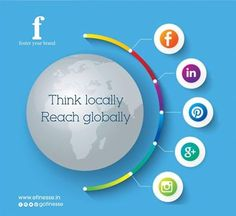 #Success #Mantra for thousands of #Businesses out there, using the means of #Social Media #Think #Locally, #Reach #Globally!!  #Connect #Engage #Empower #Finesse #FosterYourBrand #Branding #Chandigarh #India