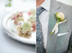Ranunculus Corsages and Peony Boutonniere by Forget Me Not Floral Design PHOTOGRAPHY BY Stoffer Photography » Chicago Wedding and Portrait Photography