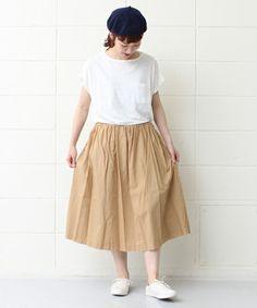 PAR ICI(パーリッシィ)の高密度ローン ギャザースカート (スカート)|ベージュ