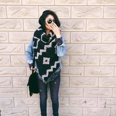 Fell for the Wilfred blanket scarf #fallforus #myaritzia #staffstyle | KAYQUE. | Aritzia - CA - EN