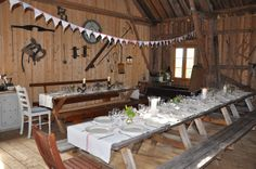 Summerparty in the old barn