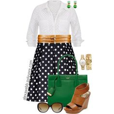 Plus Size - All Dotted Up by alexawebb on Polyvore featuring Madden Girl, Kate Spade, MARC BY MARC JACOBS, Catherine Canino Jewelry, Coach, outfit, plussize, plussizefashion and alexawebb