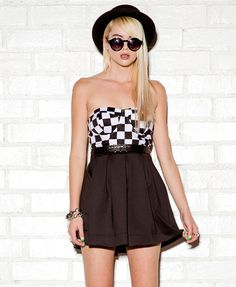 Checkered Bustier | FOREVER21 - 2058548935