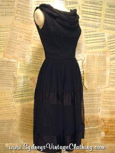 Vintage Cocktail Party Dress Ann Marsh SydneysVintageClothing.com