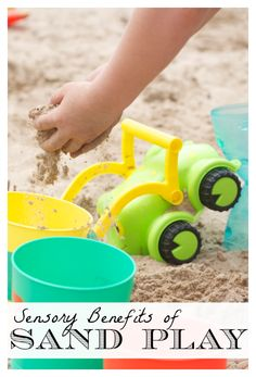 3 Sensory Benefits of Sand Play *young kids love sand toys!