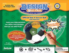 This kit makes a real, size 4 soccer ball.  Great birthday present for that special soccer player in your life...or their coach! http://www.janlynn.com/detail.cfm?ID=8227