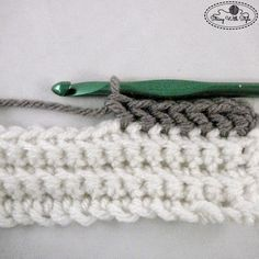 How to:  Slanted HDC stitch, used here as the final finishing row of a border.   . . . .