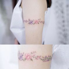 Style for ear tattoo Flower Wrist Tattoos, Rose Tattoos, Body Art Tattoos, Tattoos For Kids, Tattoos For Women Small, Small Tattoos, Anklet Tattoos, Tattoo Bracelet, Tatoos