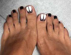 Ideas Easy Pedicure Designs Nail Hacks For 2019 Fall Pedicure Designs, Toe Nail Designs, Beautiful Nail Designs, Pedicure Ideas, Foot Pedicure, Pedicure Colors, Manicure Y Pedicure, Toe Nail Color, Toe Nail Art