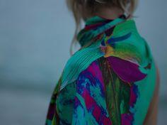 Inna Zobova wears a scarf by INNANGELO