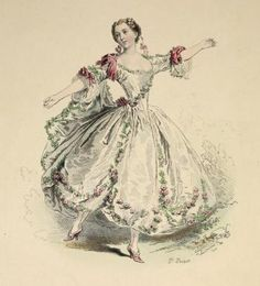Lovely french fashion -Mlle. Camargo, règne de Louis XV, d'après Lancret 1730