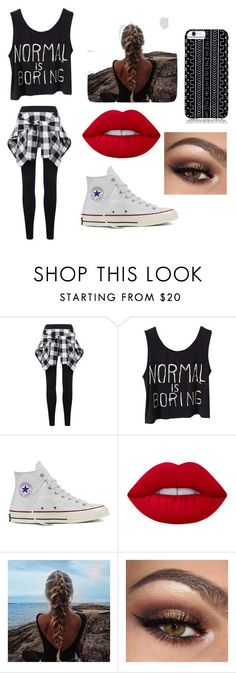 """Untitled #28"" by romi6-1 ❤ liked on Polyvore featuring Converse, Lime Crime and Savannah Hayes"