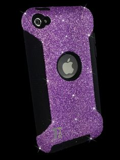 Custom Glitter Case Otterbox for iPod Touch 4G Orchid by 1WinR, $39.99
