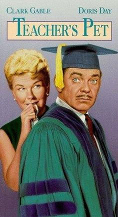"2/16/14 6:47p  Doris Day/Clark Gable  ""Teacher's Pet"" 1958. A  New Student,  Professor and  maybe a new Graduate"