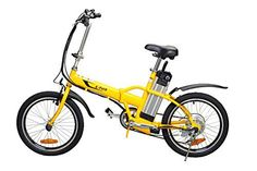 Yukon Trail Bicycles Folding Electric Bike, Yellow, 20-Inch/One Size - http://www.bicyclestoredirect.com/yukon-trail-bicycles-folding-electric-bike-yellow-20-inchone-size/