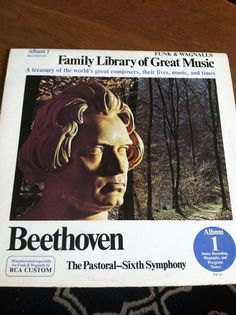 1966 Funk & Wagnalls Family Library of Great Music Vinyl Album #1 Beethoven NEW