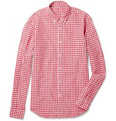 Gingham says crisp and fresh with jeans and a blue blazer. Buy in red, navy, green...and brown. J Crew does a casual version; SFA's private label does a dressier take