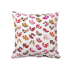 Cute fashion stiletto heals retro pattern pillows $63.95